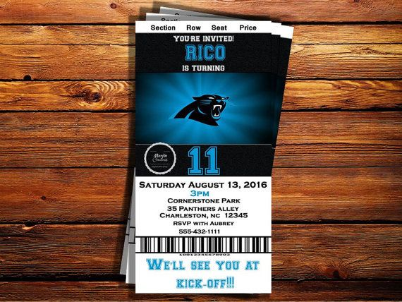 Check out this item in my Etsy shop https://www.etsy.com/listing/469373839/carolina-panthers-ticket-birthday