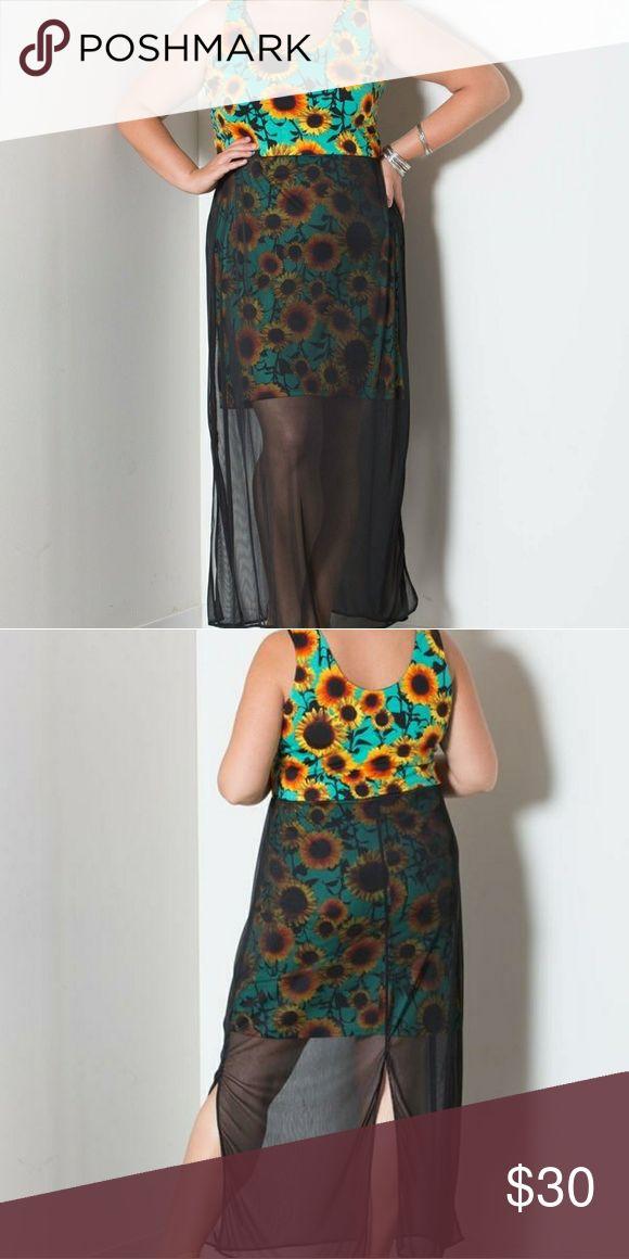 Sheer maxi tank dress