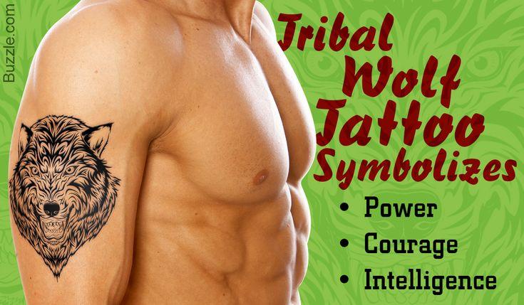Tribal wolf tattoo symbolism