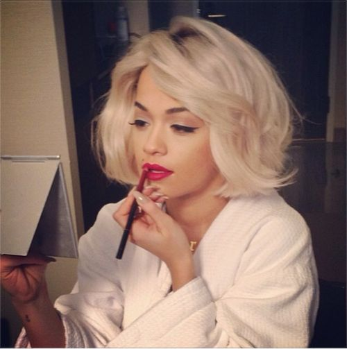 Rita Ora is seriously freakin hot! Gorgeous with short hair long hair make up done or natural! Work it mama