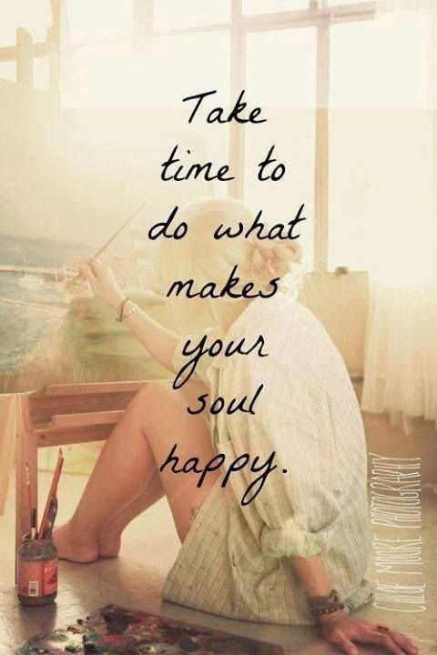 it took me almost a year to find my happy things again, but I did. I feel so much better doing things that make ME happy.