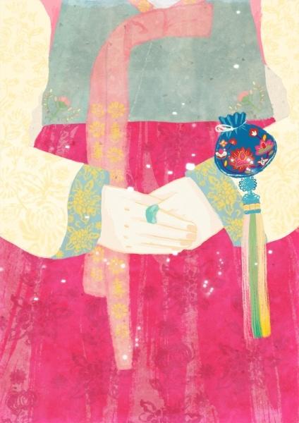 한복 hanbok illustrator