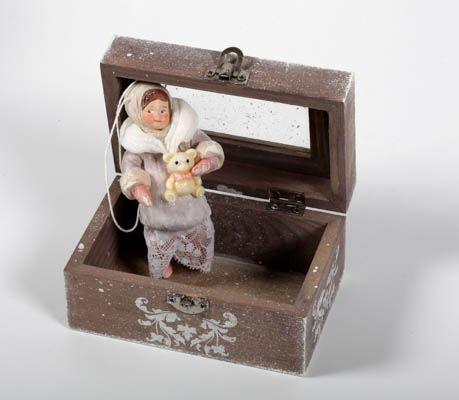 Новогодняя ватная игрушка. Наталья Родина.<br />Под заказ.