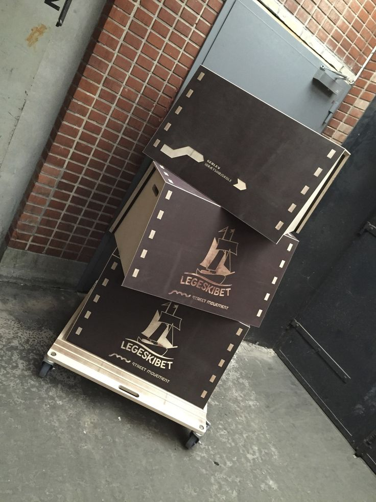 Vault Boxes for Parkour - w. customized customer logos. Designed for Street Movement