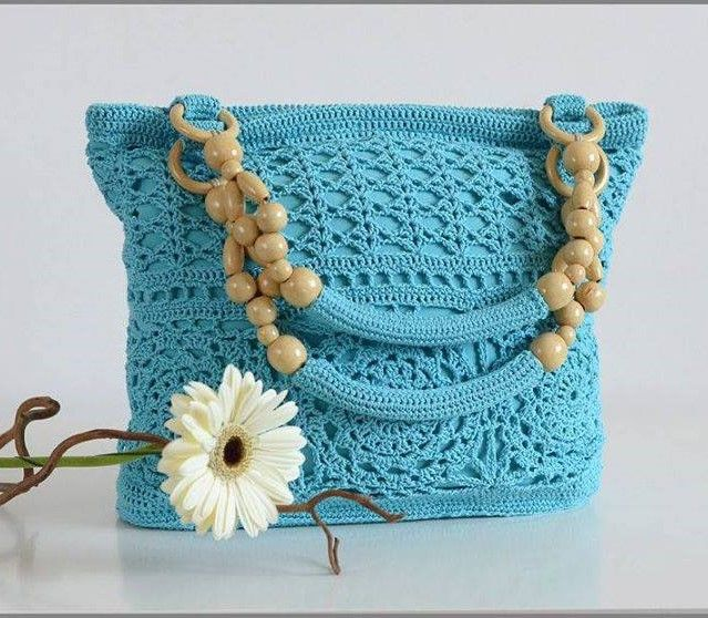 Beautiful crochet bag with graphic. - Free Patterns