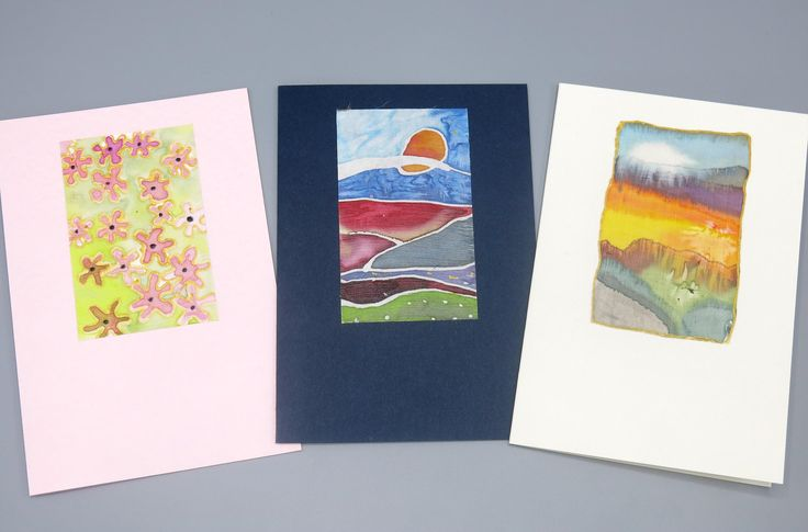 Excited to share the latest addition to my #etsy shop: set of 3 cards - silk painted cards - set of blank cards -sympathy cards-greeting cards - blank cards- birthday cards-uk seller http://etsy.me/2mVGQwQ #papergoods #botanicalcards #setof3cards #blankcards #greetingc