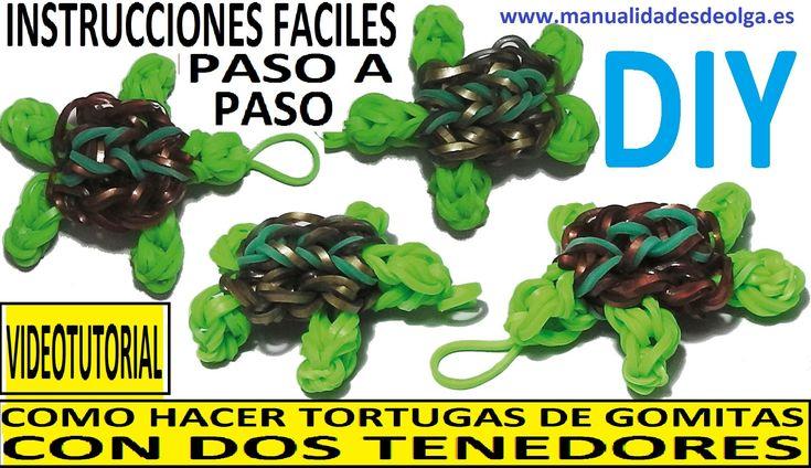 COMO HACER UNA TORTUGA DE GOMITAS CON DOS TENEDORES.