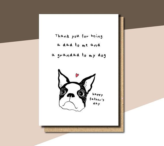 The Best Dog Dad Fathers Day Dog Card Dog Dad Card Father S Day