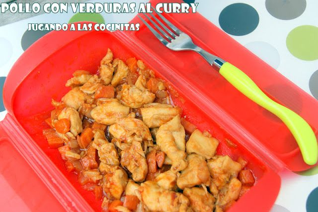 Pollo con verduras al curry