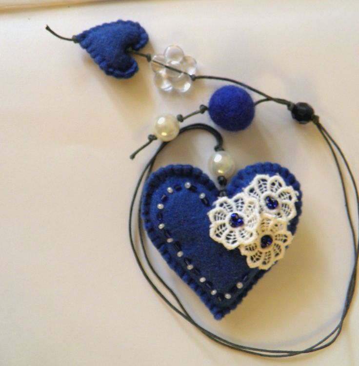 Felt bookmark with a blue heart / felt Heart /Personalized Bookmark /felt toy/ gift for child / Spring /Mother's Day /Ready to Ship.