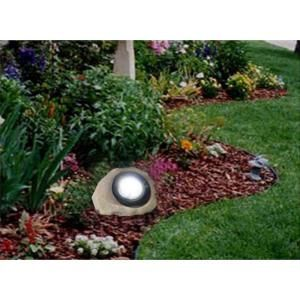Hampton Bay, Outdoor Rock LED Solar Spot Light, 49310-600AS at The Home Depot - Mobile