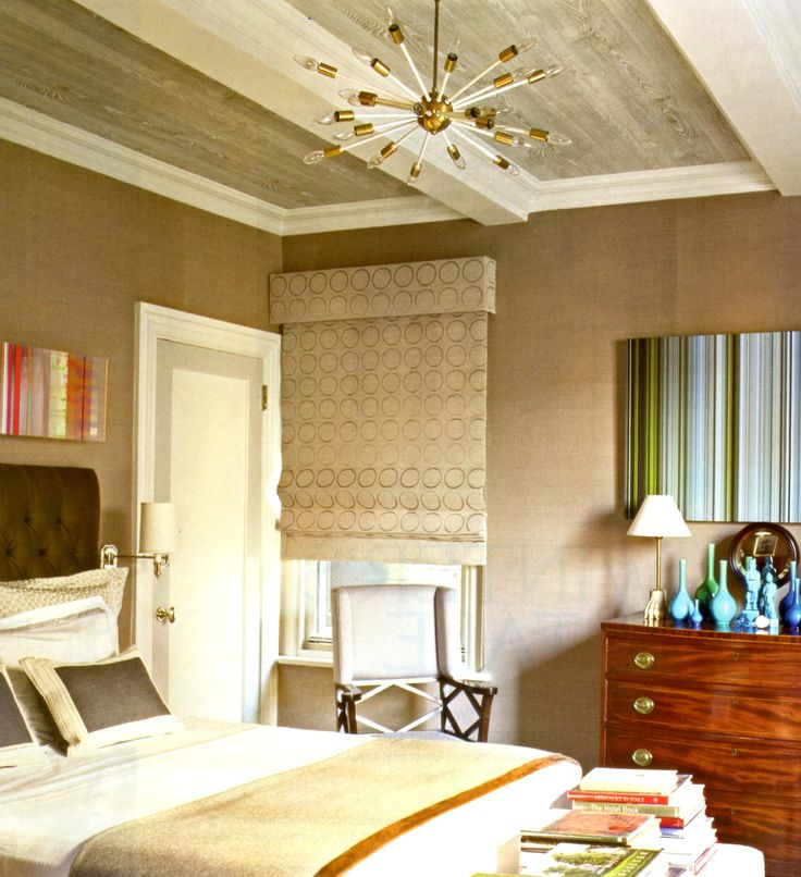 Great way to finish off an outside mount roman shade for Ways to finish a ceiling