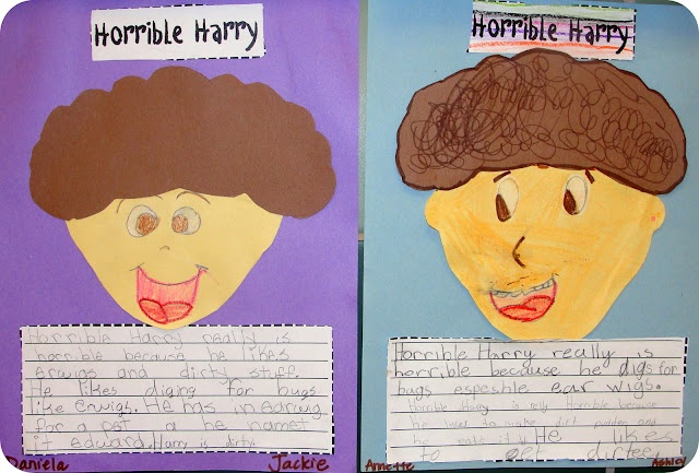 Horrible Harry Freebie :) as seen on Second Grade Squad  www.secondgradesquad.com