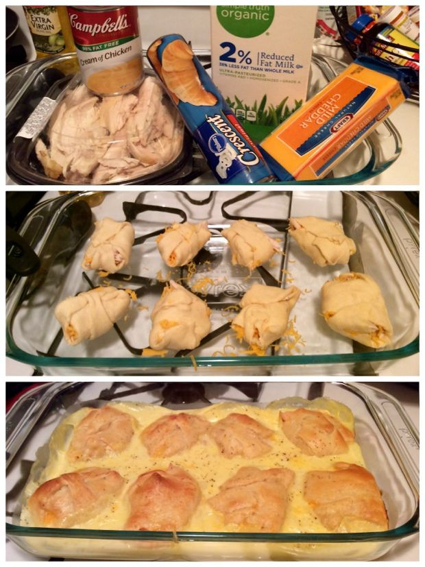 Chicken Cheese Crescent Wraps! A quick and easy chicken recipe. So delicious! #cookingadventures #butdotheyhaveranch