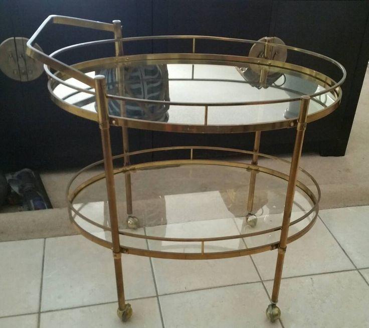 Mid Century Modern Italy Brass Bar Cart Vintage Bar Trolley Glass Shelves 1970s Hollywood Regency Barware by Panache1000Interiors on Etsy https://www.etsy.com/ca/listing/508762153/mid-century-modern-italy-brass-bar-cart