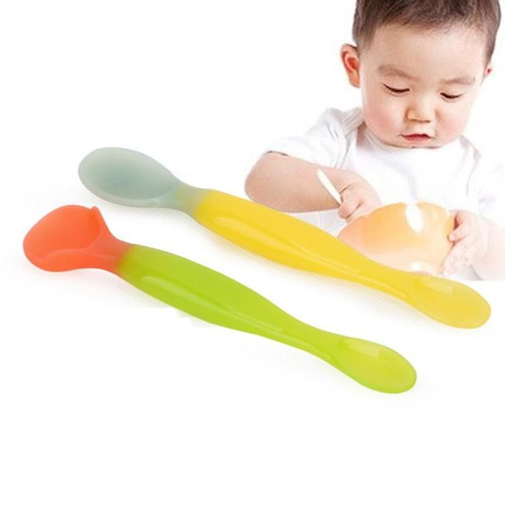>> Click to Buy << Soft Baby Spoon Feeding Spoon Temperature Sensing Spoons for baby Learning Tableware 2 pcs/set Safety PP Spoons Flatware R4-36H #Affiliate