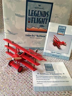 "HALLMARK LEGENDS IN FLIGHT FOKKER DR. I ""RED BARON"" SNOOPY LTD ED - 1E/9506"