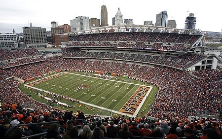 Paul Brown Stadium, home of the Cincinnati Bengals - I would love to be a season ticket holder