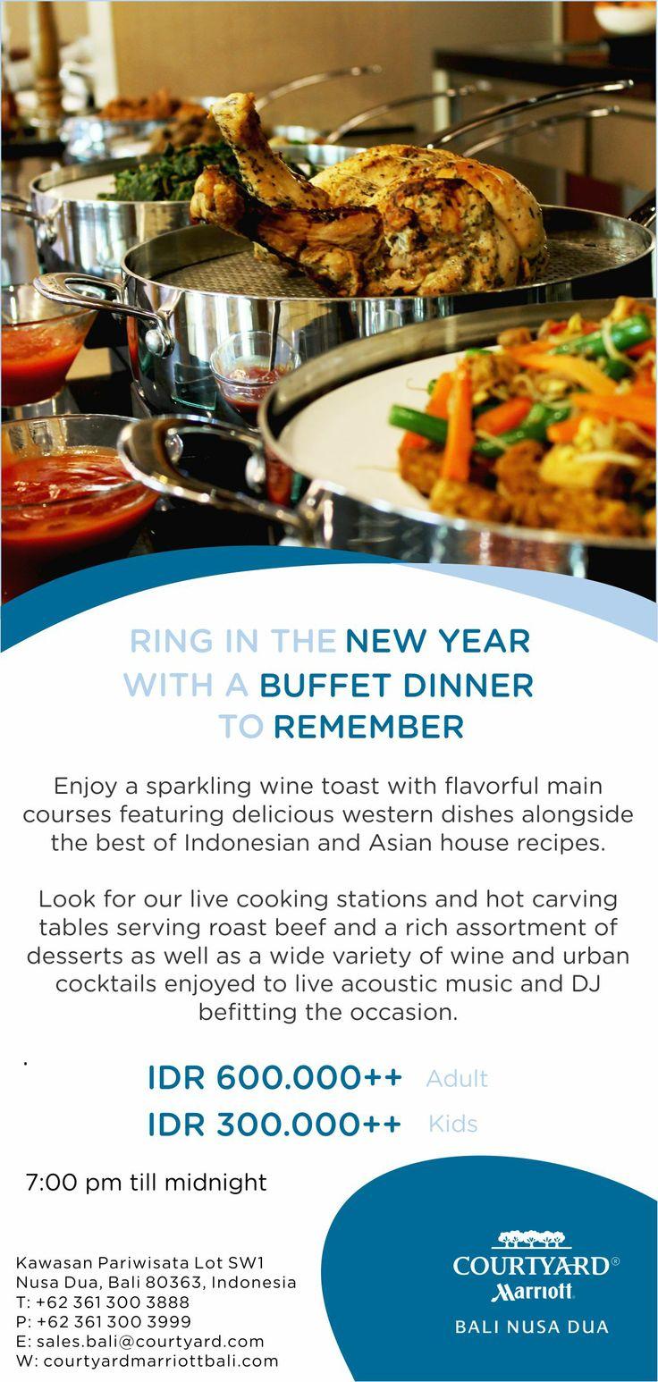 New Year Dinner at Courtyard by Marriott Bali Nusa Dua