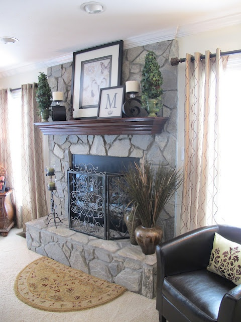 Melissa's Heart and Home - Love the fireplace decor.