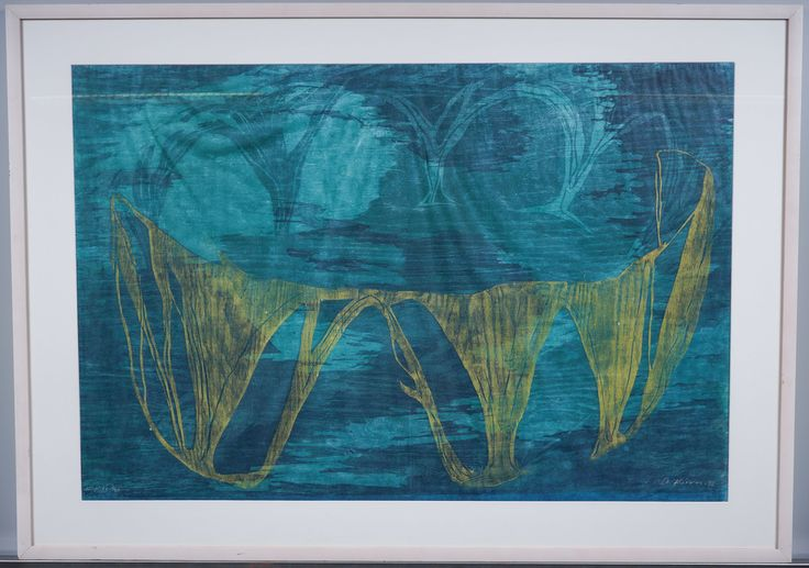 Outi Kirves: Palatsi, 1998, puupiirros, 65x97 cm, edition 2/20 - Huutokauppa Helander 09/2015