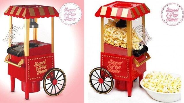 Máquina de palomitas para casa. Un regalo original. http://sorpresasparatupareja.com/2016/06/14/maquina-de-palomitas/
