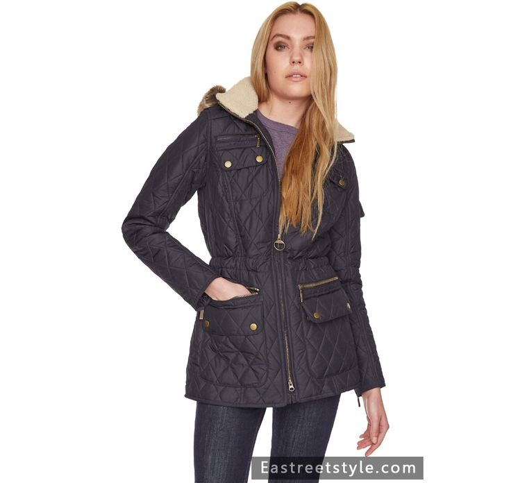 Women Barbour Hatton Parka Quilted Jacket at www.eastreetstyle.com