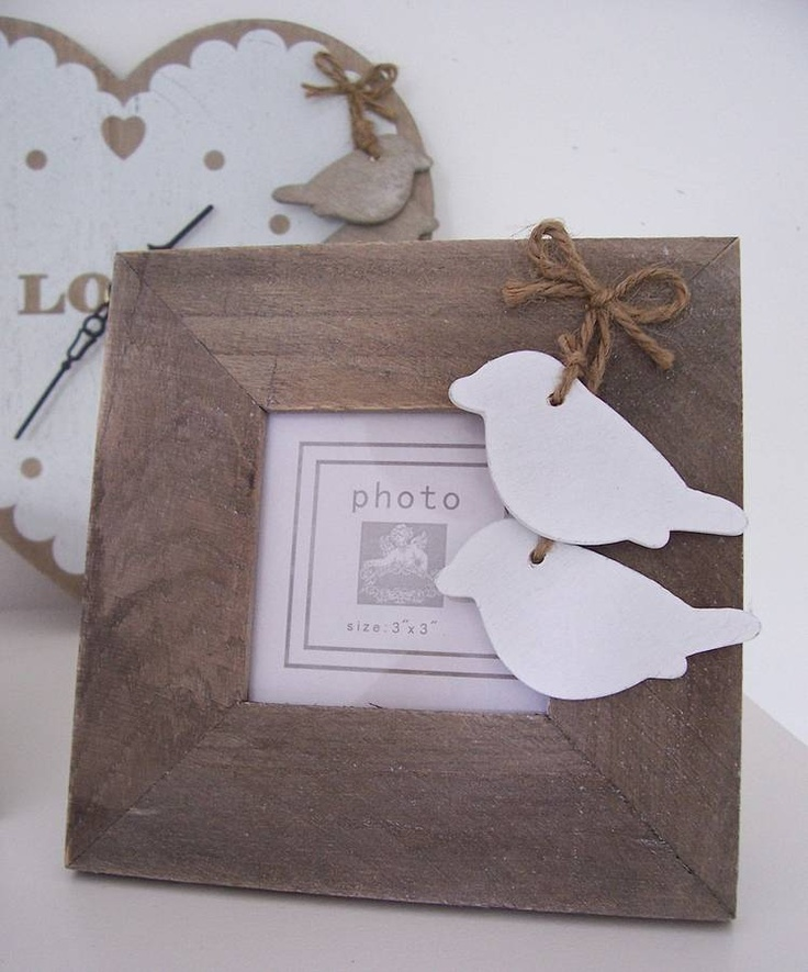 Rustic Square Wooden Photo Frame