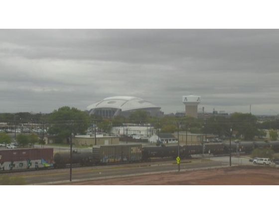 WeatherBug Camera Dallas Cowboys stadium on a rainy day