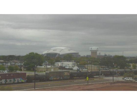 WeatherBug Camera Dallas Cowboys stadium on a rainy day