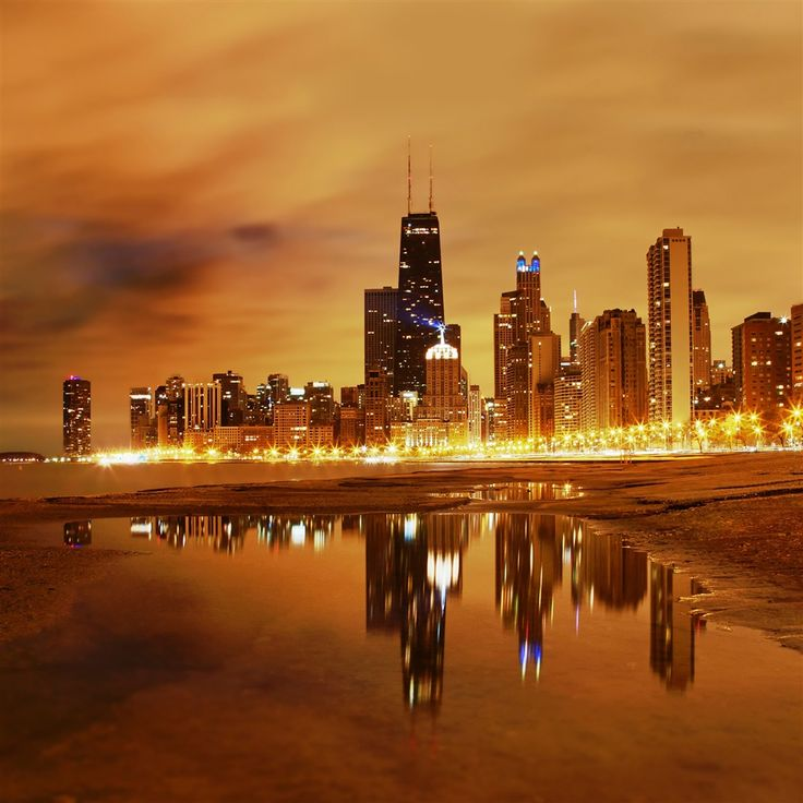 Chicago late evening #iPad #Air #Wallpaper | http://www.ilikewallpaper.net/ipad-air-wallpaper/, enjoy more here.