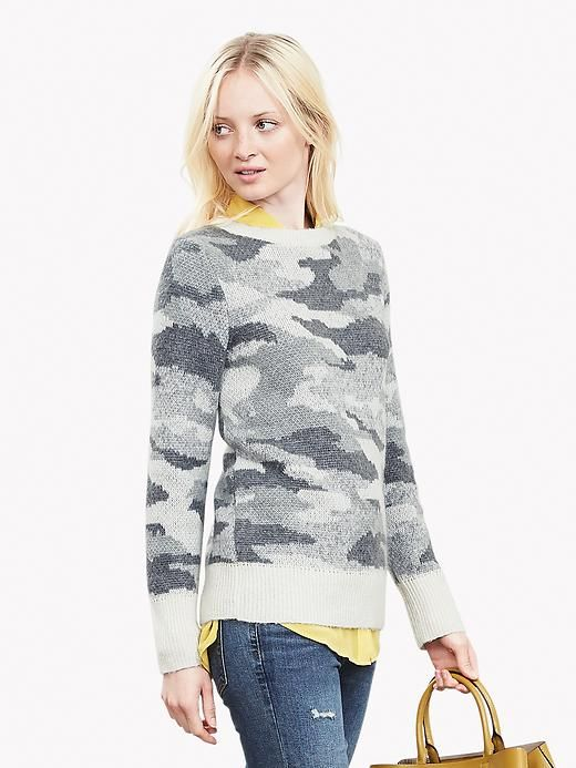 Camo Lifestyle Series #1: 11 Ways She Can Wear Camo When Not Hunting  camo for women http://www.womensoutdoornews.com/2015/09/camo-lifestyle-series-1-10-ways-she-can-wear-camo-when-not-hunting/ via @teamwon bananarepublic-camosweater