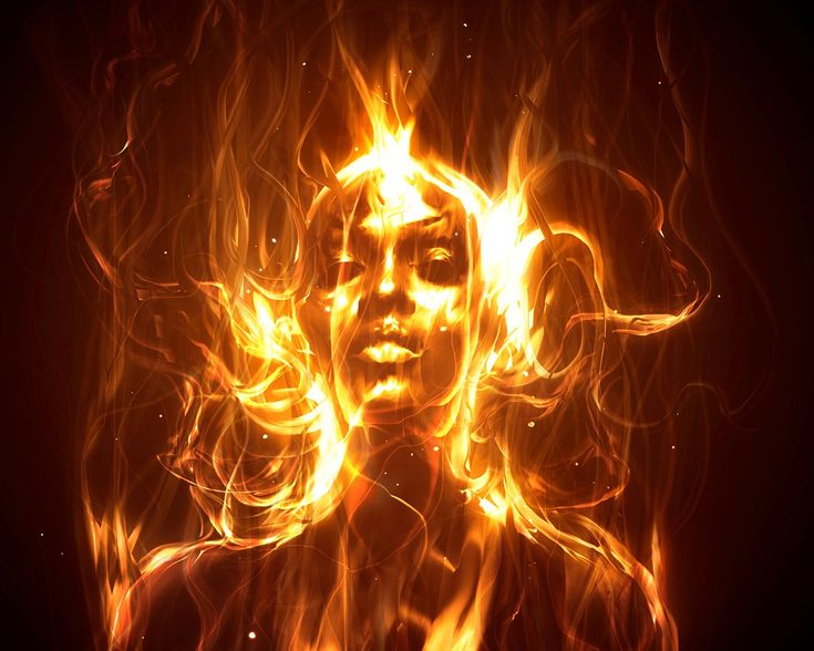 Fire Girl image, from a page on Agni Yoga.  I've had comparable image of Brighid myself.