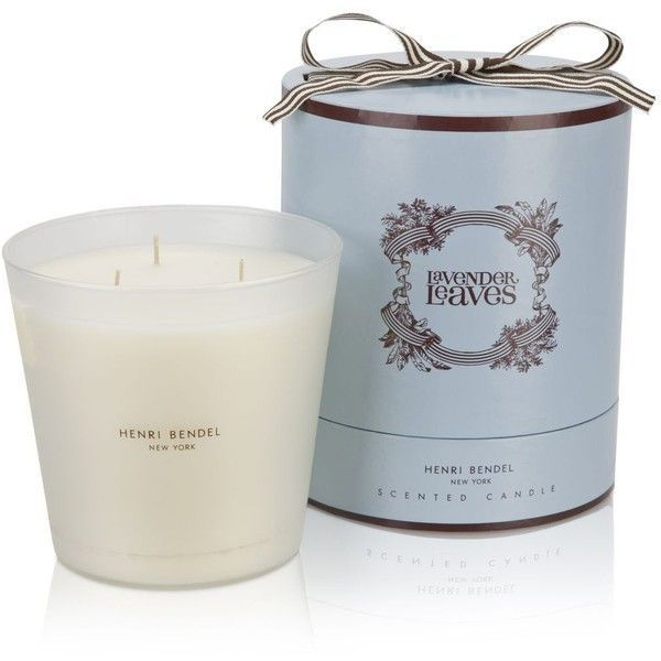 Lavender leaves candle.