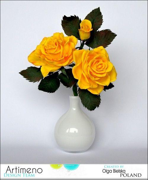 Róże z foamiranu.