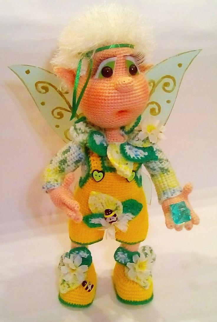 Фей Одуванчик из онлайна еленсимашин - МОИ ВЯЗАЛКИ - Галерея - Форум почитателей амигуруми (вязаной игрушки)