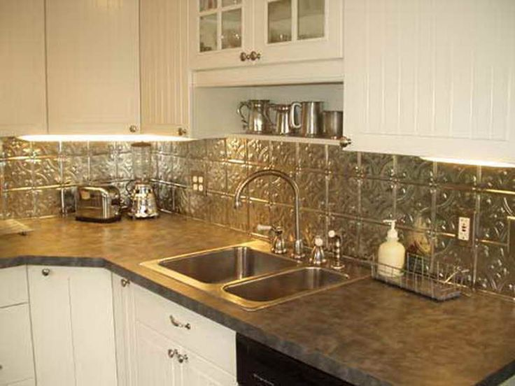 White Kitchens With Tin Back Splash | Tin Backsplash