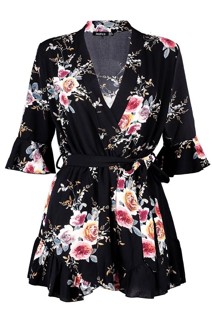 6ea6148cf17 Dell Wrap Floral Ruffle Hem Playsuit so cute for a night out