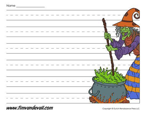 halloween writing paper - Printable Halloween Writing Paper