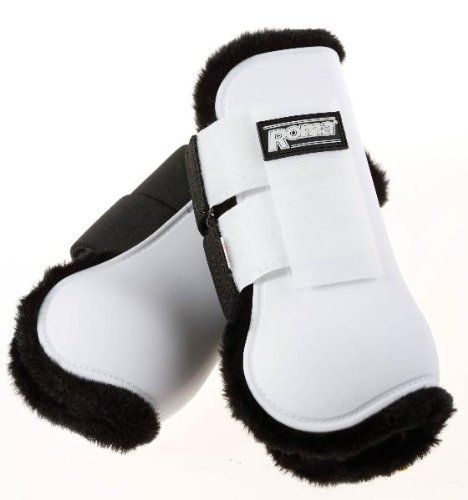 Roma Fleece Open Front Boots, Black/Black, Full by Roma F.C.. $31.35