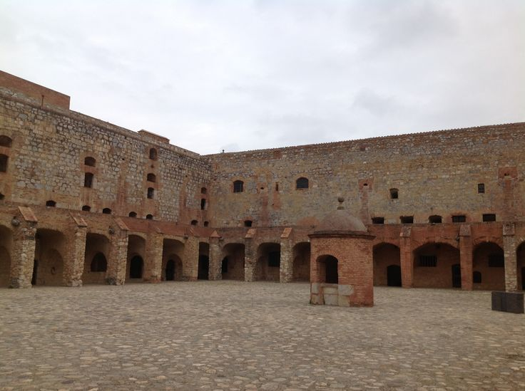 176. The Main Courtyard of the Fortress of Salses in Salses-le-Château