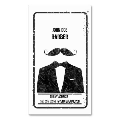 Barbershop Business Card from Zazzle.