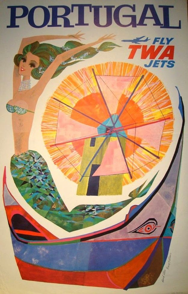 Great design. | Gorgeous Vintage Travel Posters-Portugal....  ~pinterest