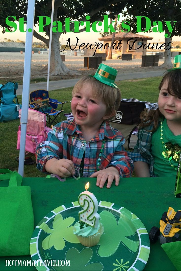 Birthdays, St. Patrick's Day and an RV trip! Why not! Find out what St. Patrick's Day is like at the Newport Dunes.