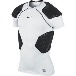 Nike Adult Pro Combat Hyperstrong Compression 4 Pad Football Rugby Shirt Was $75