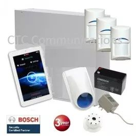 "Bosch Solution 3000 Alarm System with 3 x Gen 2 Tritech+ 7"" Touch Screen Code…"