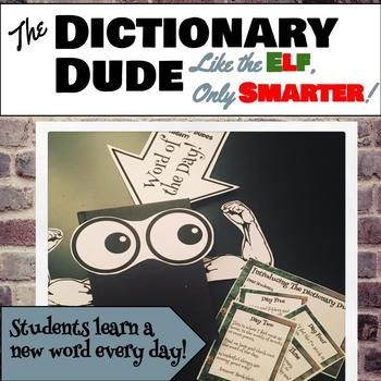 Dictionary Dude: Like the Elf, Only Smarter--a holiday hiding game with words!