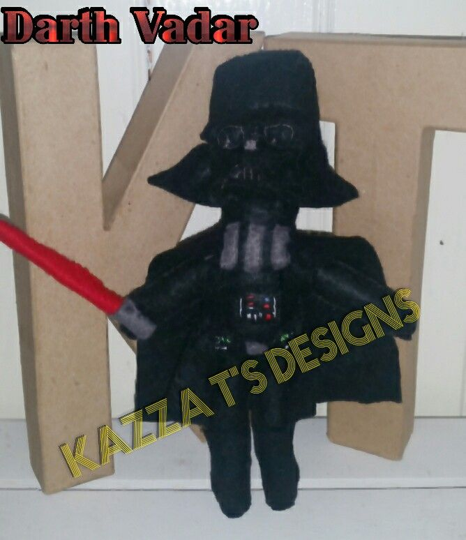 Darth Vadar handmade felt plush doll  #kazzatsdesigns #feltplushdolls #beingcreative #favecharacters #starwars