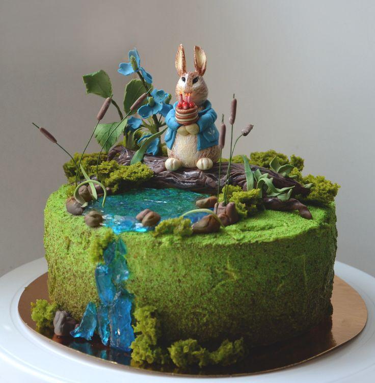 Торт на день рождения мальчика. Кролик Питер.