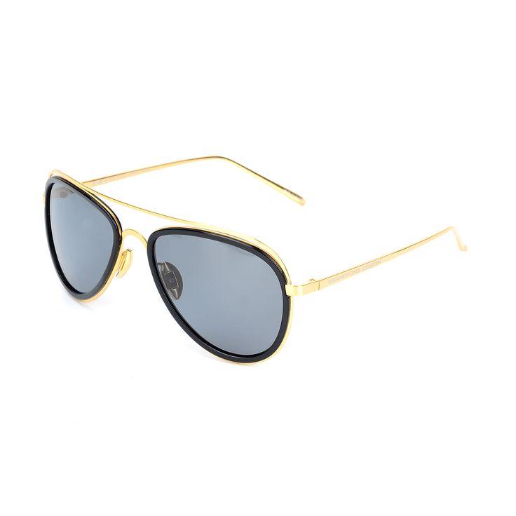 Lunettes de Soleil Polarisées Polarized Touching Polarized Polarized Sunglasses , Cadre Doré Gris